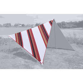 Bent Canvas Allover Set Oosters, stripe white/zipper red